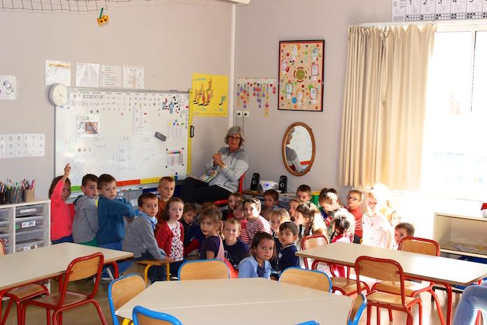Salle de classe de maternelle de maîtresse Agnès