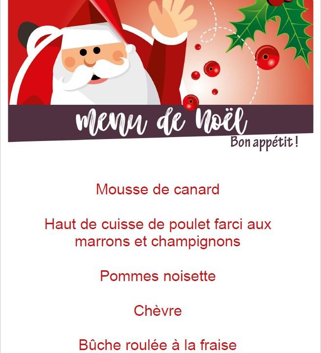 Menu de Noël 2018