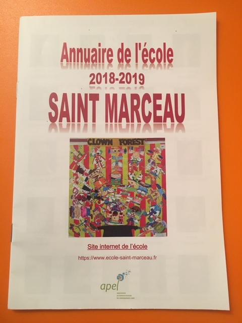 Annuaire de l'école Saint Marceau