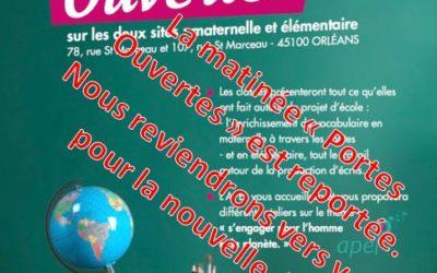Matinée Portes Ouvertes Reportée