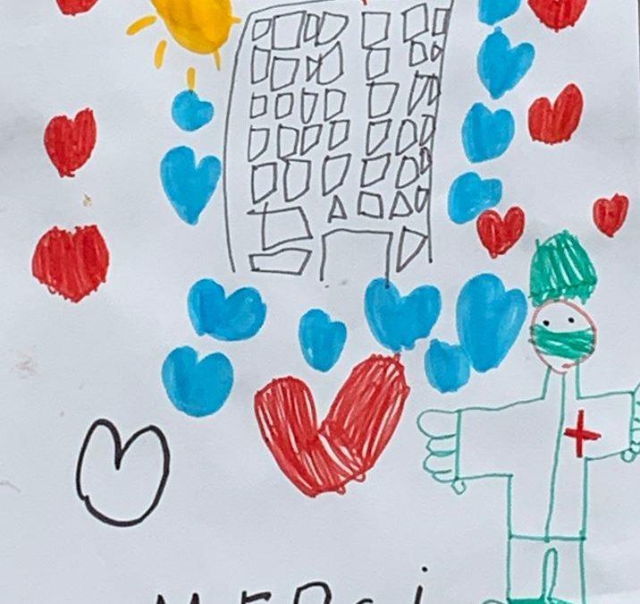 Les MS dessinent pour les soignants !